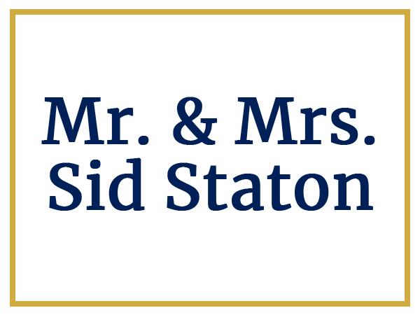 Sponsors Mr. and Mrs. Sid Staton